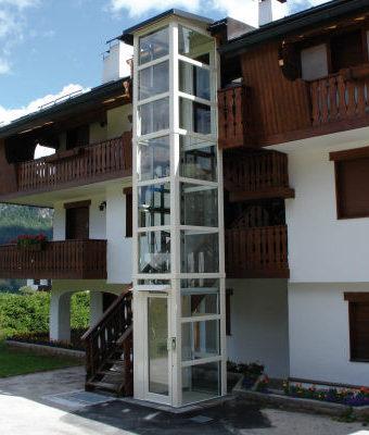 Panoramik Ev Asansörü – Bina Dışı (1 Kat 3m)