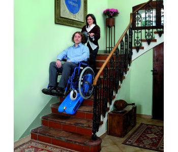 engelli merdiven inme çıkma aparatı